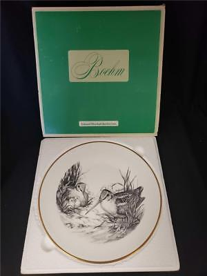 (= Vintage Boehm Game Bird Plate Woodcock Gold Rim 10 3/4