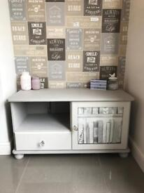 Shabby chic TV cabinet with drawer & cupboard