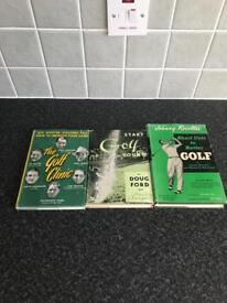 Selection of 3 vintage golf books