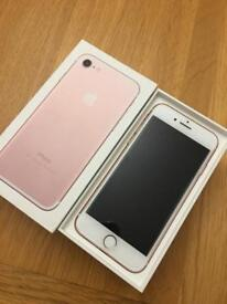 iPhone 7 32gb factory unlocked in rose gold boxed with all leads