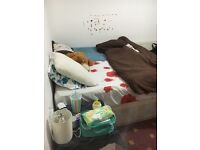 Large double room for couple or two girls . Muslims or vegetarian ( we don't eat pork )