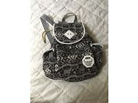 Black and white rucksack