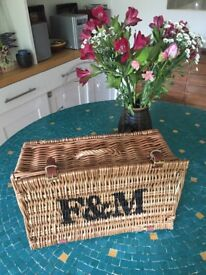 Fortnum & Mason's Hamper Wicker Basket (without contents). New condition