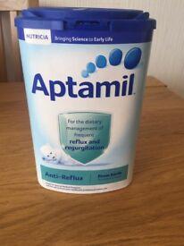 Almost full Anti reflux tub of Aptamil
