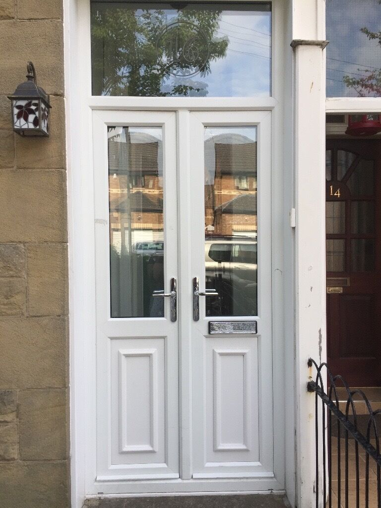 UPVC white double front/storm doors for sale | in Jordanhill ...