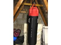 EVERLAST - 5 FOOT PUNCH BAG COMPLETE WITH GLOVES, GUARD AND SUSPENSION WALL BRACKET