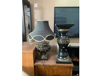 Lamp with stand - black
