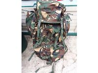Camouflage rucksack/bergen mil-tec