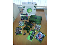 VG condition Limited edition translucent green Xbox Original console etc.