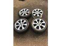 "16"" 4x100 pcd genuine bmw Mini Cooper alloys wheels"