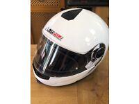 LS2 Flipup white multisex motorbike helmet