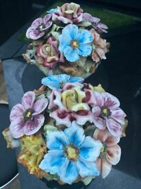 Vintage Capodimonte floral center piece