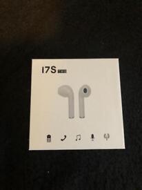 Wireless earphones with charging dock NOT (APPLE BRAND)