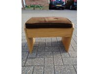 Footstall with open up compartment for TV Magazine / remote