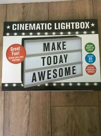 Brand New Cinematic Light Box Advertising Sign/Message Board