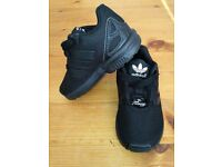 Adidas ZX Flux kids size 5 black trainers