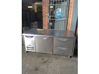 COMMERCIAL COUNTER FRIDGE TAKEAWAY SHOP CAFE SHOP FRIDGE BENCH CAFE TAKEAWAY FRIDGE COUNTER PREP