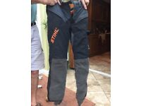 Tree surgeons protective trousers