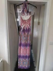 Jane Norman halter neck maxi dress