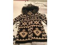 Zara knit cardigan/ Coat Size M