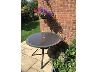 Circular Glass Garden Table