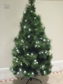 Christmas Tree 5ft Pre Lit with 40 new decorations, excellent condition