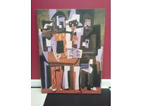 "Pablo Picasso ""Three Musicians II"" 1921 Gallery Wrap Canvas Painting - Excellent re-production"