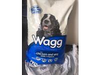 Large 12kg sack of wagg dry dog food