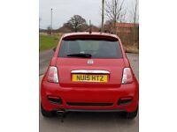 Red Fiat 500 Sport