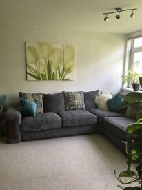 Large grey corner Sofology sofa in fabulous condition - needs to go ASAP