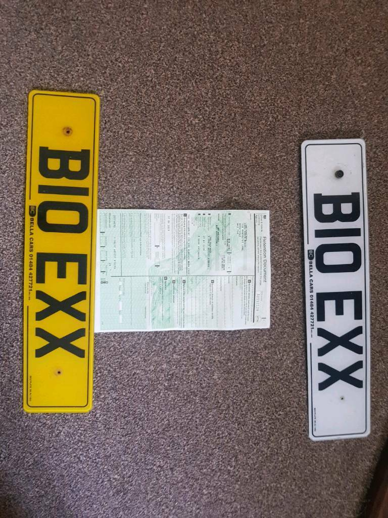 how to change private number plates back