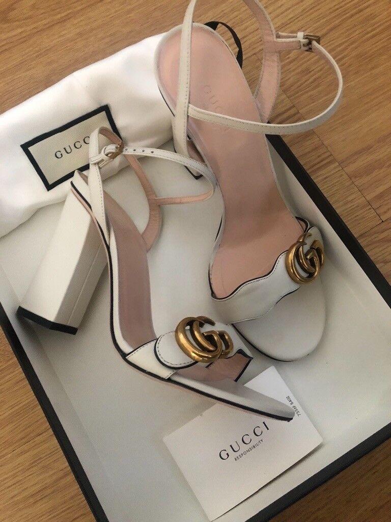 b09b7b3b0346 Gucci Marmont Block Heels-Size 38.5
