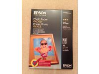 50 sheets Epson photo paper glossy A3