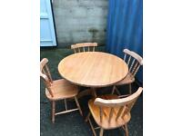 Pine table and 4 chairs FREE DELIVERY PLYMOUTH AREA