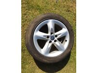 2x ford focus 2010 zetec alloy wheels fitted with good tyres size 205/55/16 with 6mm of tread