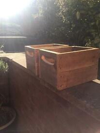 Vintage handmade planter/Apple crate