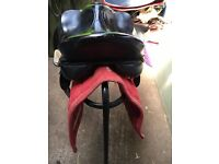black country 17 inch black leather saddle