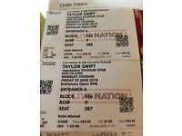 Taylor Swift Tickets x 2 Fri 22nd June