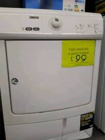 ZANUSSI CONDENSOR TUMBLE DRYER IN GOOD CONITION