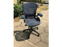 Herman miller aeron size B blue and carbon