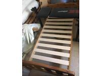 Toddler bed frame.
