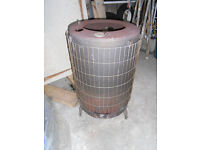 WoodBurner, with 7.5m of pipes, 3 corner bends,& Top Hat-suitable for a Garage/workshop -£140 all in