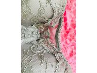 Victoria Secret lacy Bra perfect for low neck tops - 34B - Tags intact - Nude/Taupe color
