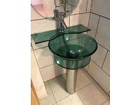 Modern Glass Basin & Tap
