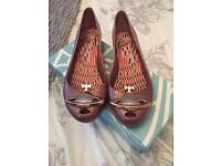 Vivienne Westwood rose gold pink shoes Size 7 like new