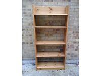 4 x nice deep pine bookshelves £25 each