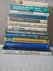 12 Hardcover Cricket Books in Wrappers UK Courier £6.50