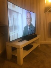 Harvey's White High Gloss TV Stand