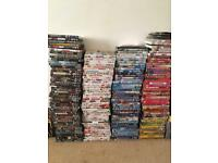 Over 200 DVDs new and old.