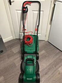 Qualcast 1200w electric rotary lawn mower used once